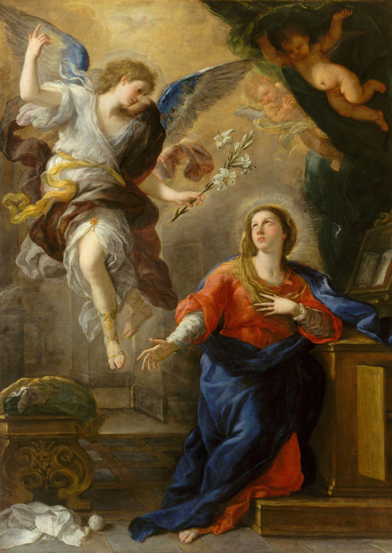 Anunciación de la Virgen María (Luca Giordano · 1672)
