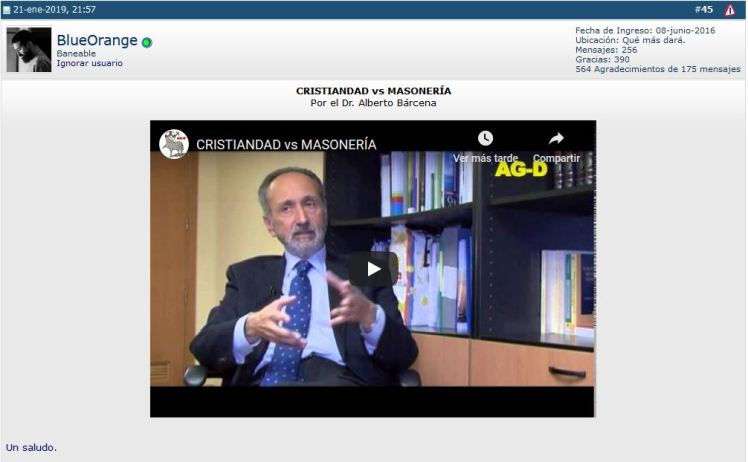Captura 07 (CRISTIANDAD vs MASONERÍA - Dr. Alberto Bárcena - Youtube - 02)