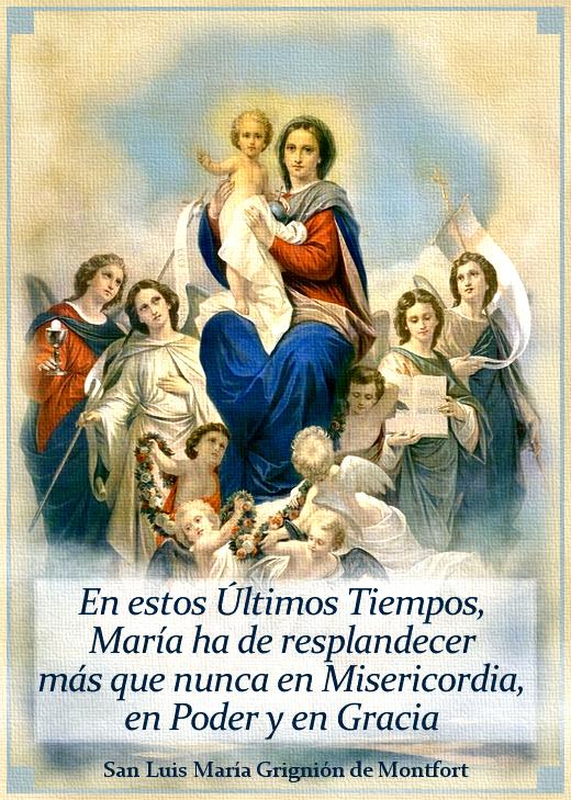 La Virgen María, revelada por el Espíritu Santo en la segunda venida de Cristo.