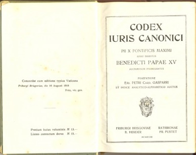 Código de Derecho Canónico de 1917 (Portada)