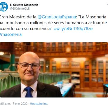 Conciencia 2020-03-16 (18) El Oriente Masonería en Twitter Gran Maestro de la GranLogiaEspana La Masonería ha impulsado a m[1]