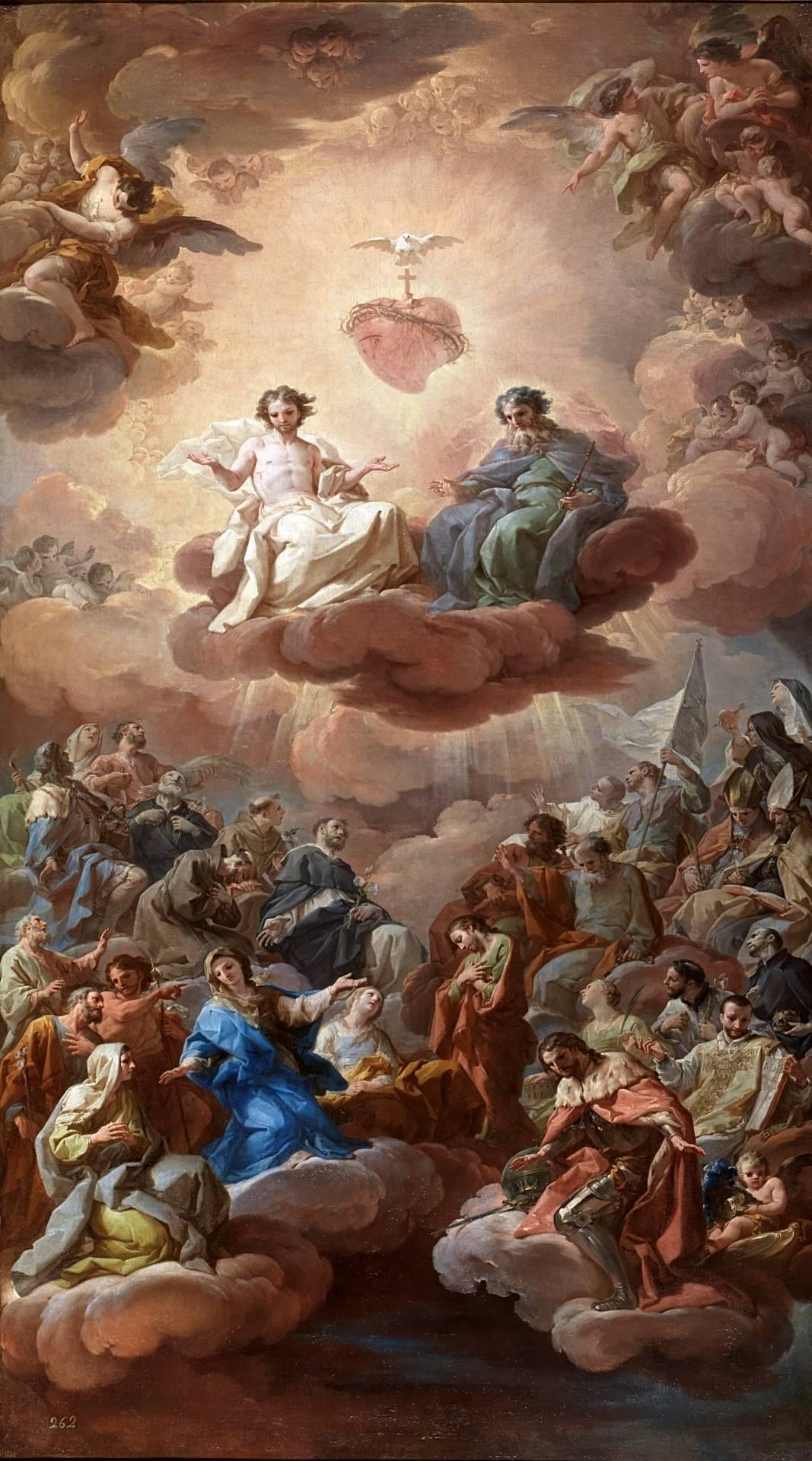 La Santísima Trinidad, por Corrado Giaquinto (1754) (291 KB)