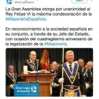 Condecoración a Felipe Borbón.