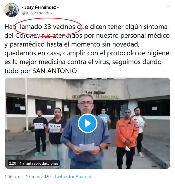 13b Screenshot_2020-04-02 (16) • Josy Fernández • en Twitter Han llamado 33 vecinos que dicen tener algún síntoma del Coronavir[...]