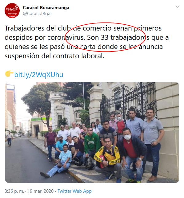 13c Screenshot_2020-04-02 (16) Caracol Bucaramanga en Twitter Trabajadores del club de comercio serían primeros despidos por co[...]