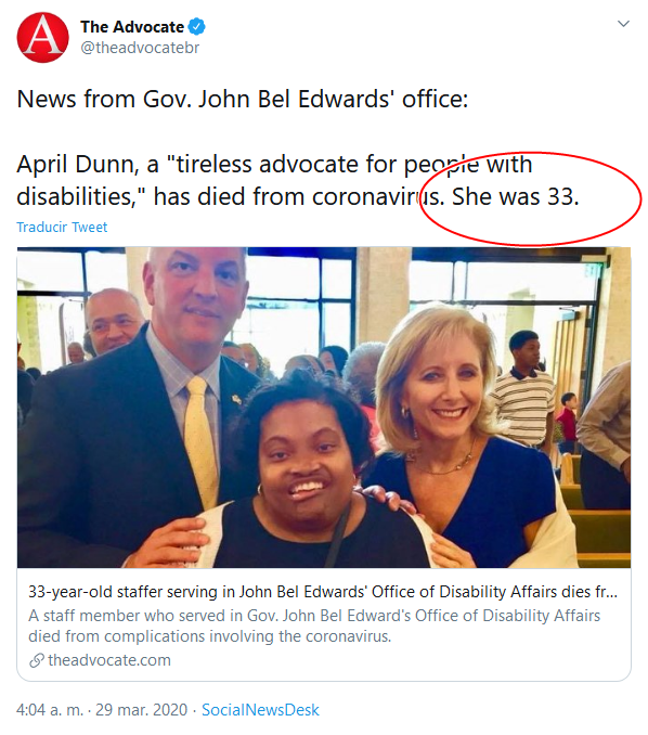 14 Screenshot_2020-04-02 (18) The Advocate en Twitter News from Gov John Bel Edwards' office April Dunn, a tireless advocate f[...]