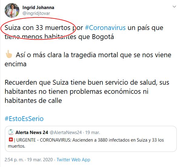 20a Screenshot_2020-04-02 (16) Ingrid Johanna en Twitter Suiza con 33 muertos por #Coronavirus un país que tiene menos habitant[...]