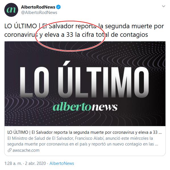 21b Screenshot_2020-04-02 (18) AlbertoRodNews en Twitter LO ÚLTIMO El Salvador reporta la segunda muerte por coronavirus y elev[...]