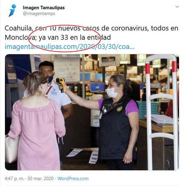 26 Screenshot_2020-04-02 (16) Imagen Tamaulipas en Twitter Coahuila, con 10 nuevos casos de coronavirus, todos en Monclova; ya[...]