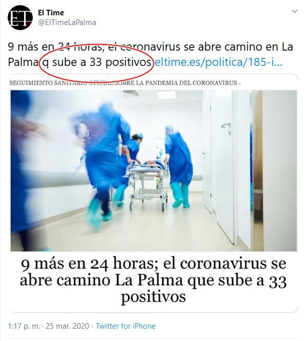 34 Screenshot_2020-04-02 (16) El Time en Twitter 9 más en 24 horas; el coronavirus se abre camino en La Palma q sube a 33 posi[...]
