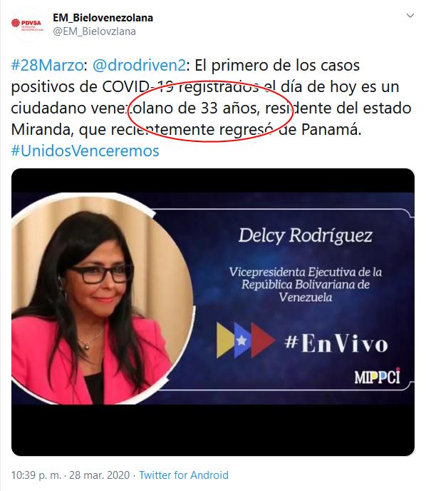 3a Screenshot_2020-04-02 (16) EM_Bielovenezolana en Twitter #28Marzo drodriven2 El primero de los casos positivos de COVID-19 [...]