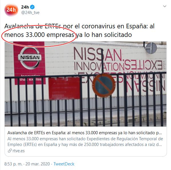 8a Screenshot_2020-04-02 (16) 24h en Twitter Avalancha de ERTEs por el coronavirus en España al menos 33 000 empresas ya lo ha[...]
