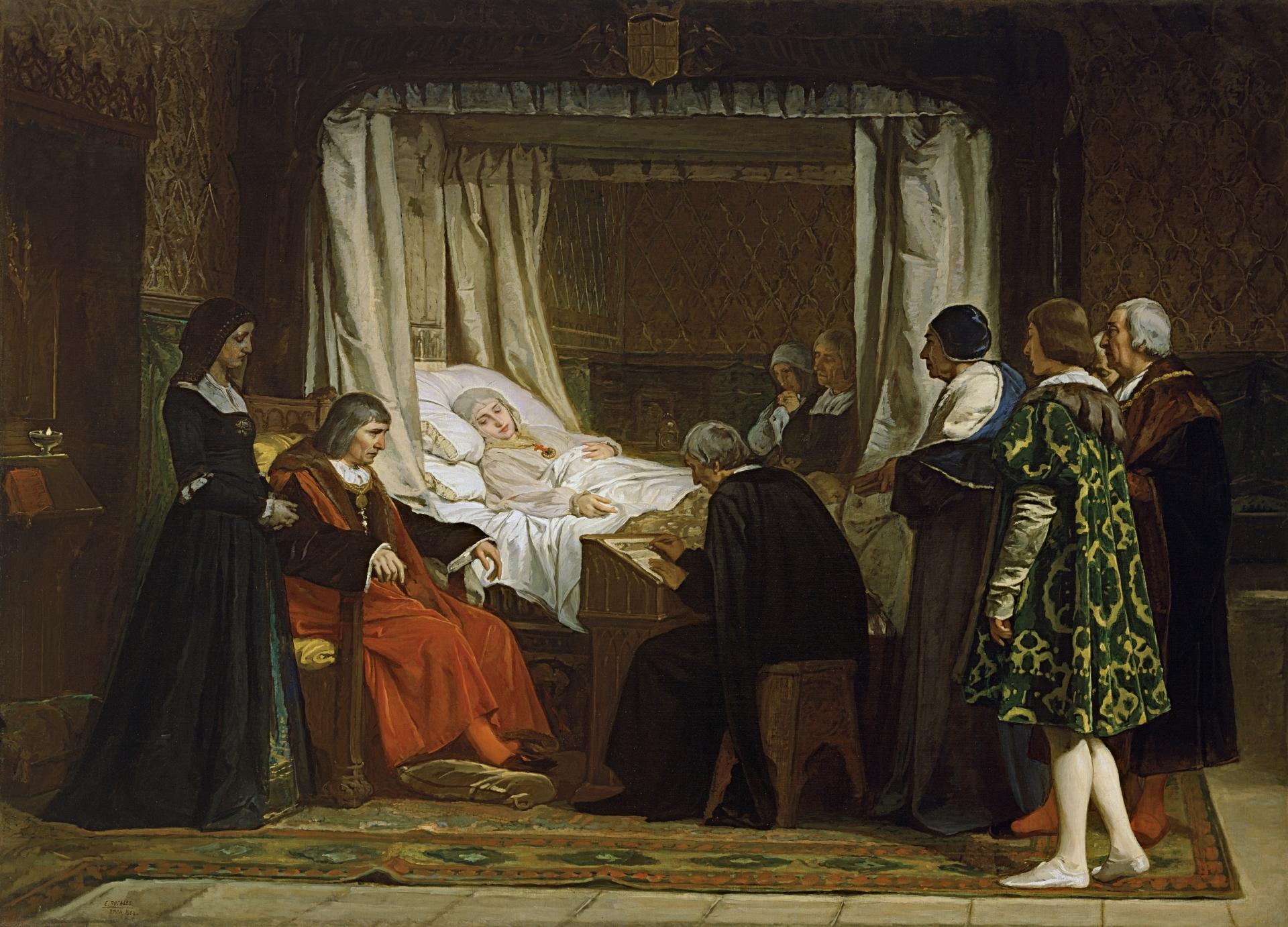 Doña Isabel la Católica dictando su testamento (Rosales Gallinas, Eduardo. 1864)