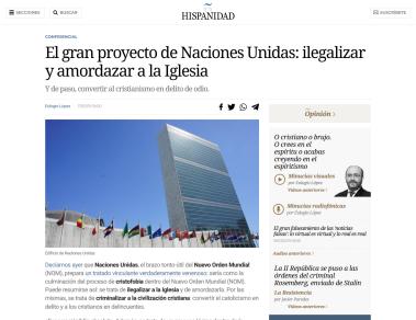 ONU - Entronización del Anticristo como Papa y Emperador (Primeras noticias en prensa) (17marz.2019)